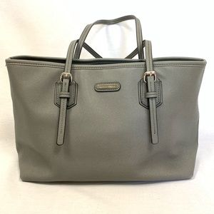 Dana Buchman Grey Crossgrain Handbag Purse